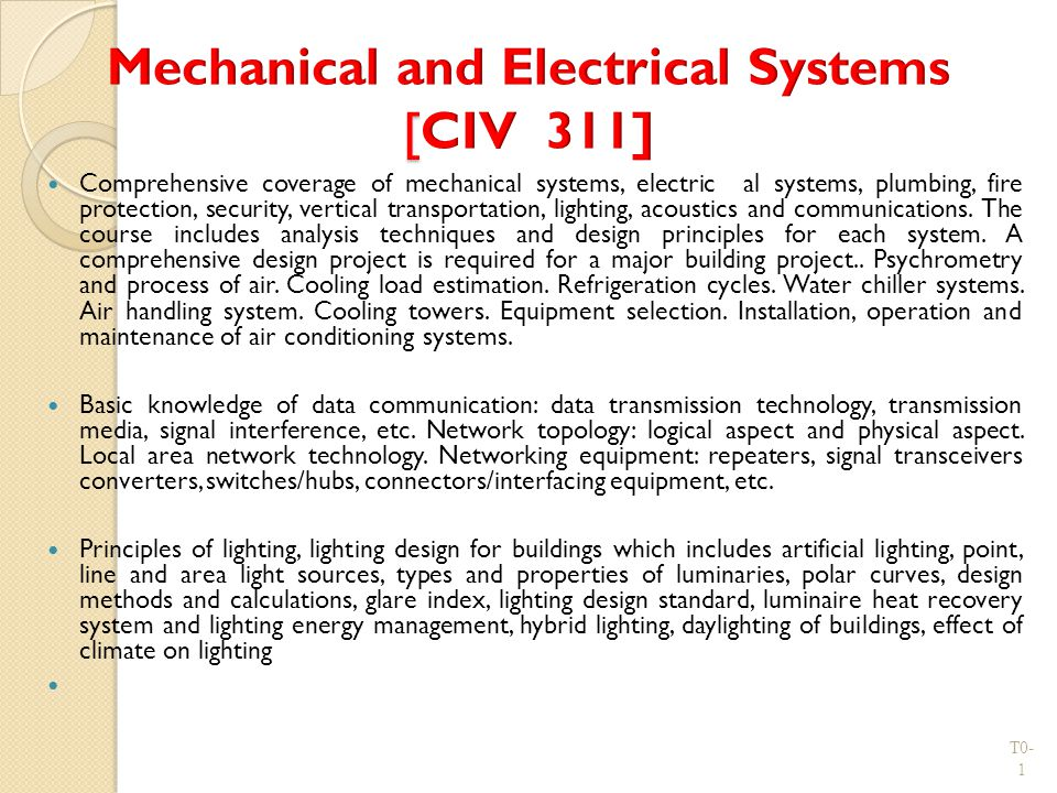 Mechanical and Electrical Systems [CIV 311]  sc 1 st  SlidePlayer & Mechanical and Electrical Systems [CIV 311] - ppt download azcodes.com